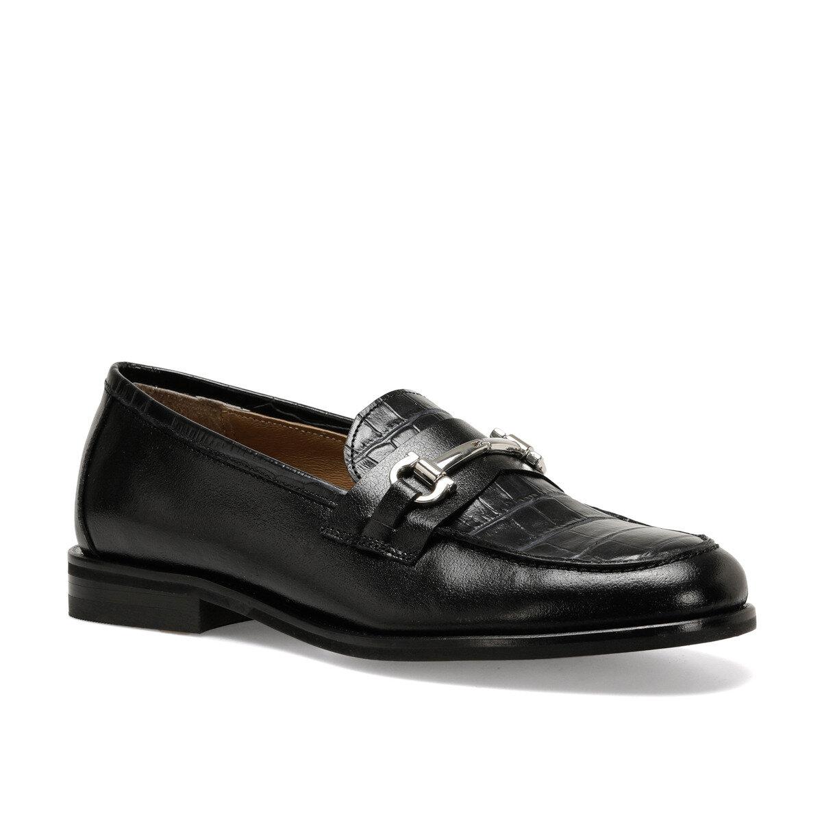 GERA Siyah Kadın Loafer Ayakkabı