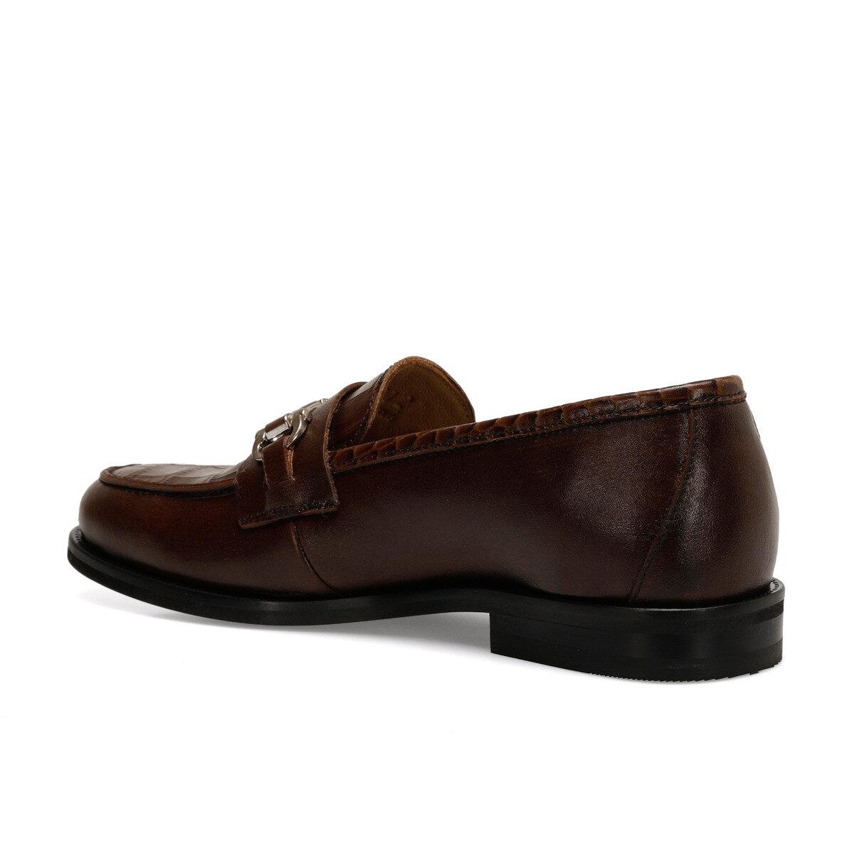 GERA Taba Kadın Loafer Ayakkabı