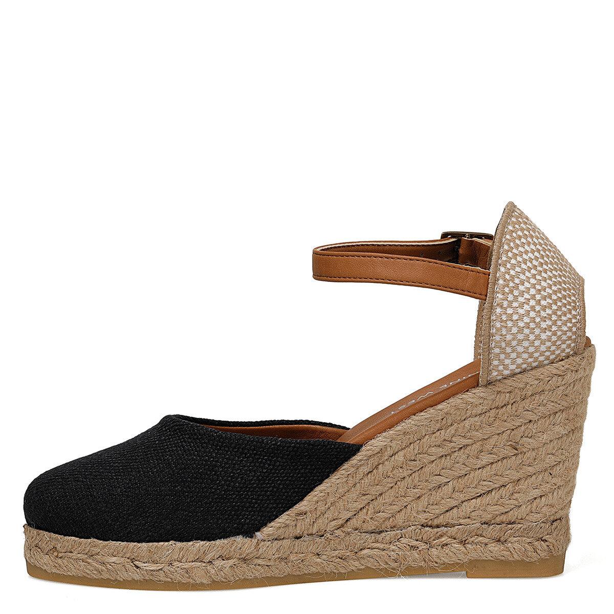 ARTEMISIA Siyah Kadın Dolgu Topuk Sandalet