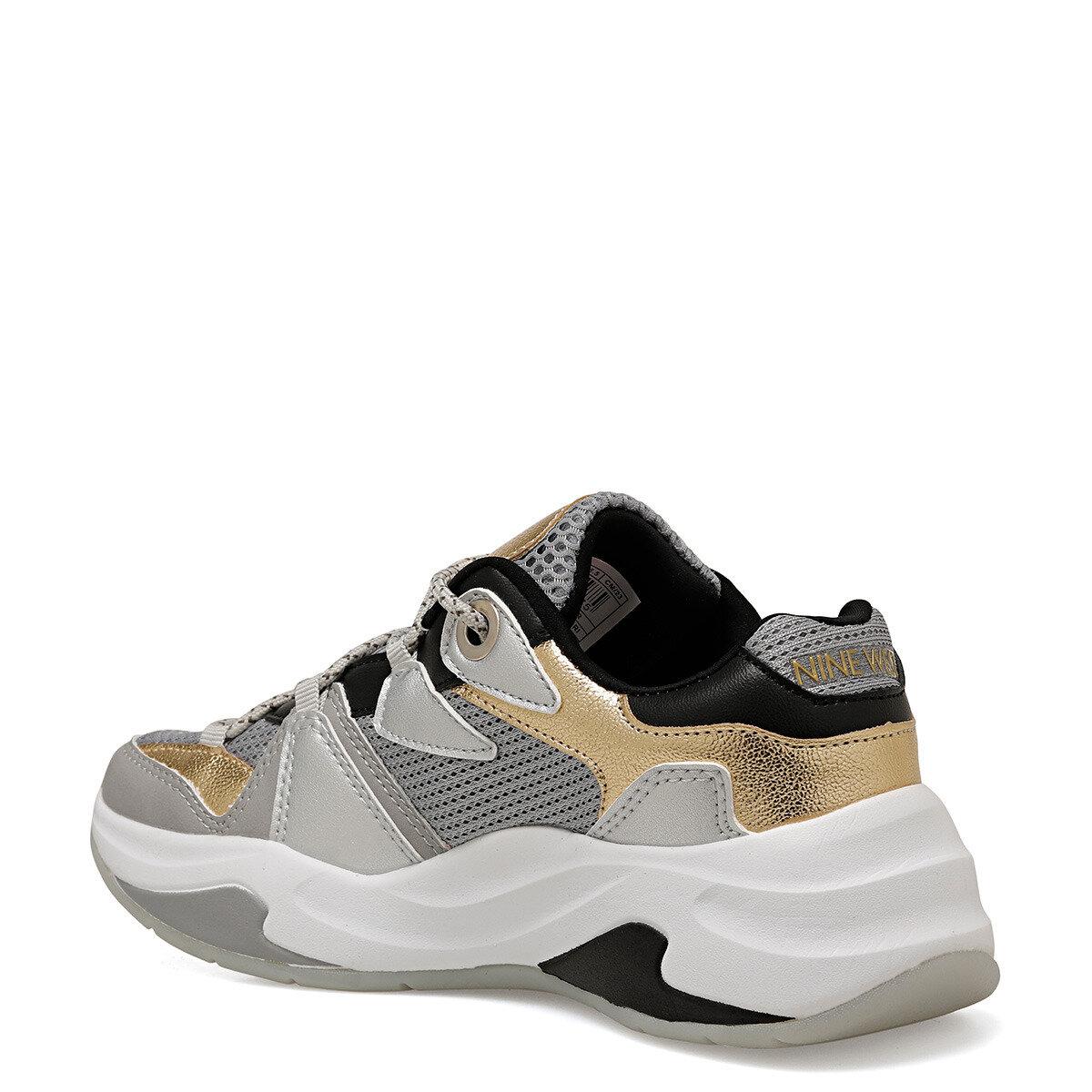 RANDOR Metalik Gri Kadın Sneaker