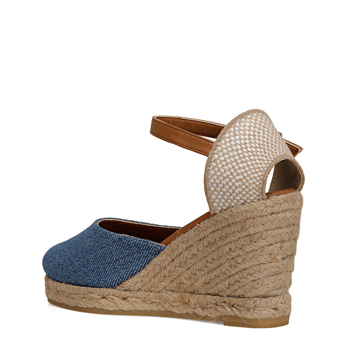 BERTHE Mavi Kadın Dolgu Topuklu Sandalet