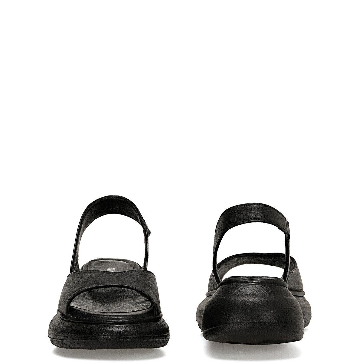 HAL Siyah Kadın Kalın Taban Sandalet