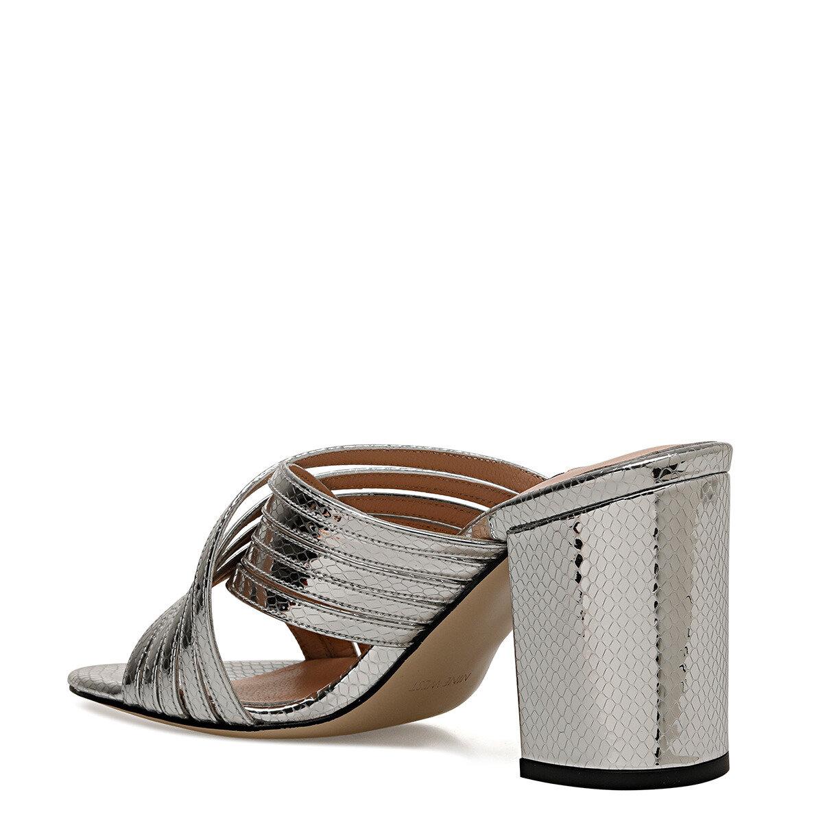 TRINP Gümüş Kadın Topuklu Terlik