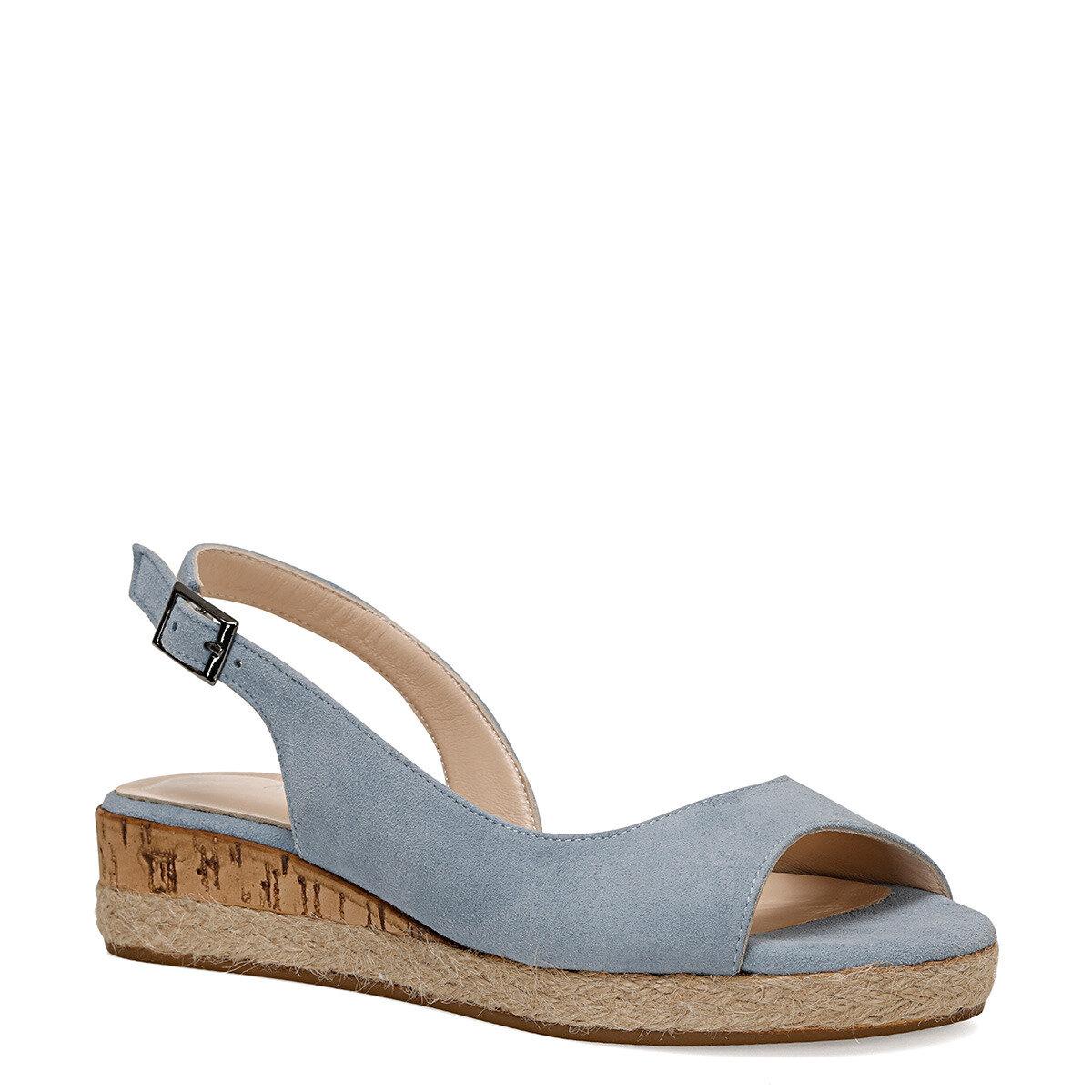 HUEY Mavi Kadın Dolgu Topuklu Sandalet