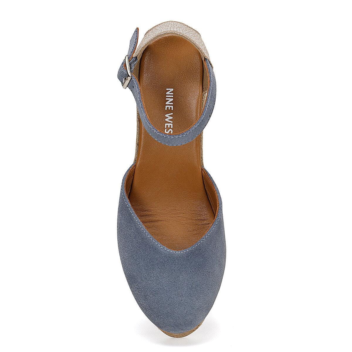 FEDE Mavi Kadın Topuklu Ayakkabı