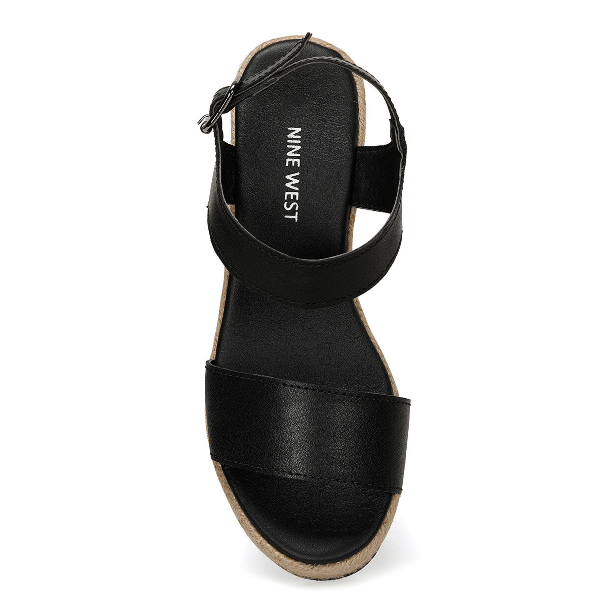 VALLEY Siyah Kadın Dolgu Topuklu Sandalet