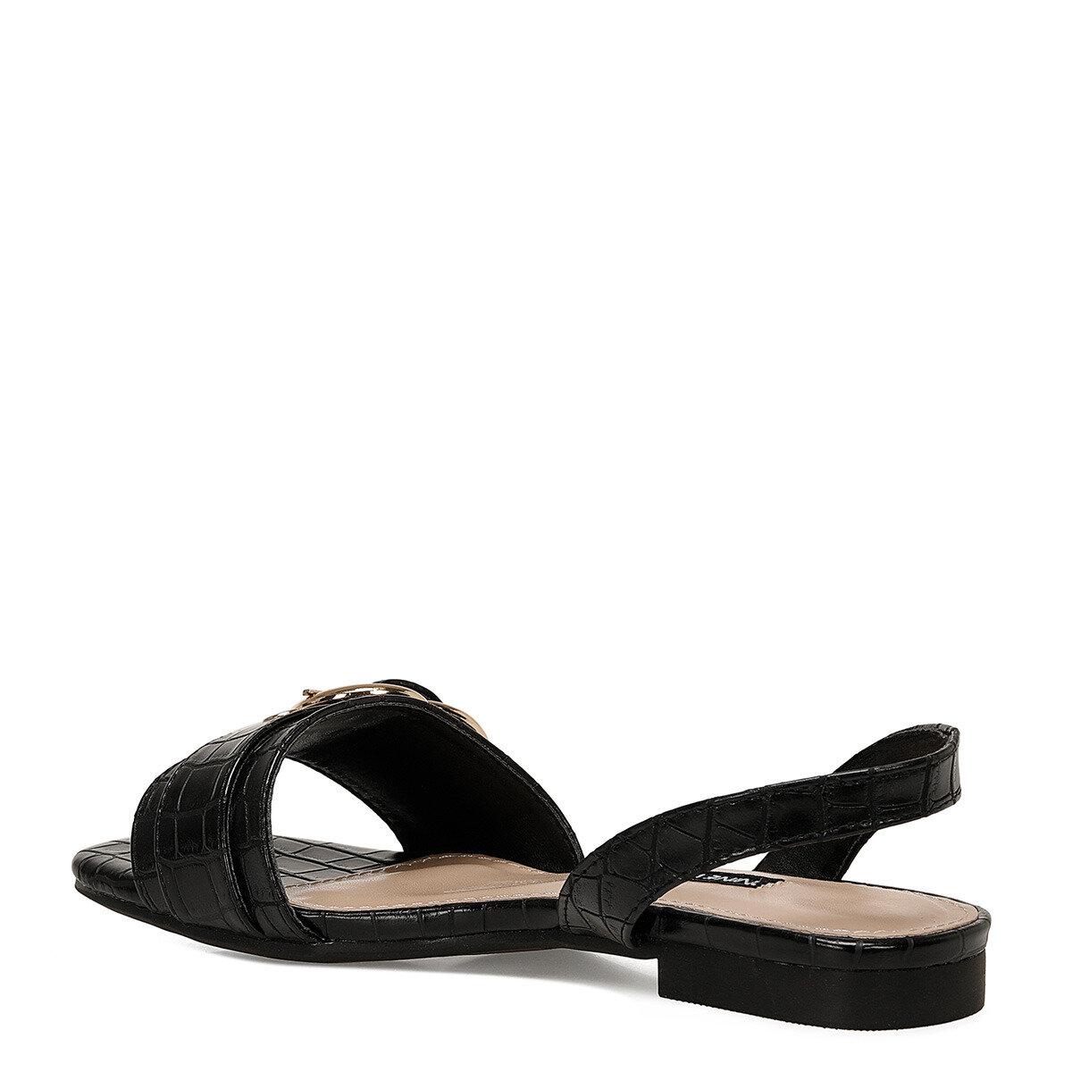 LORATA Siyah Kadın Düz Sandalet