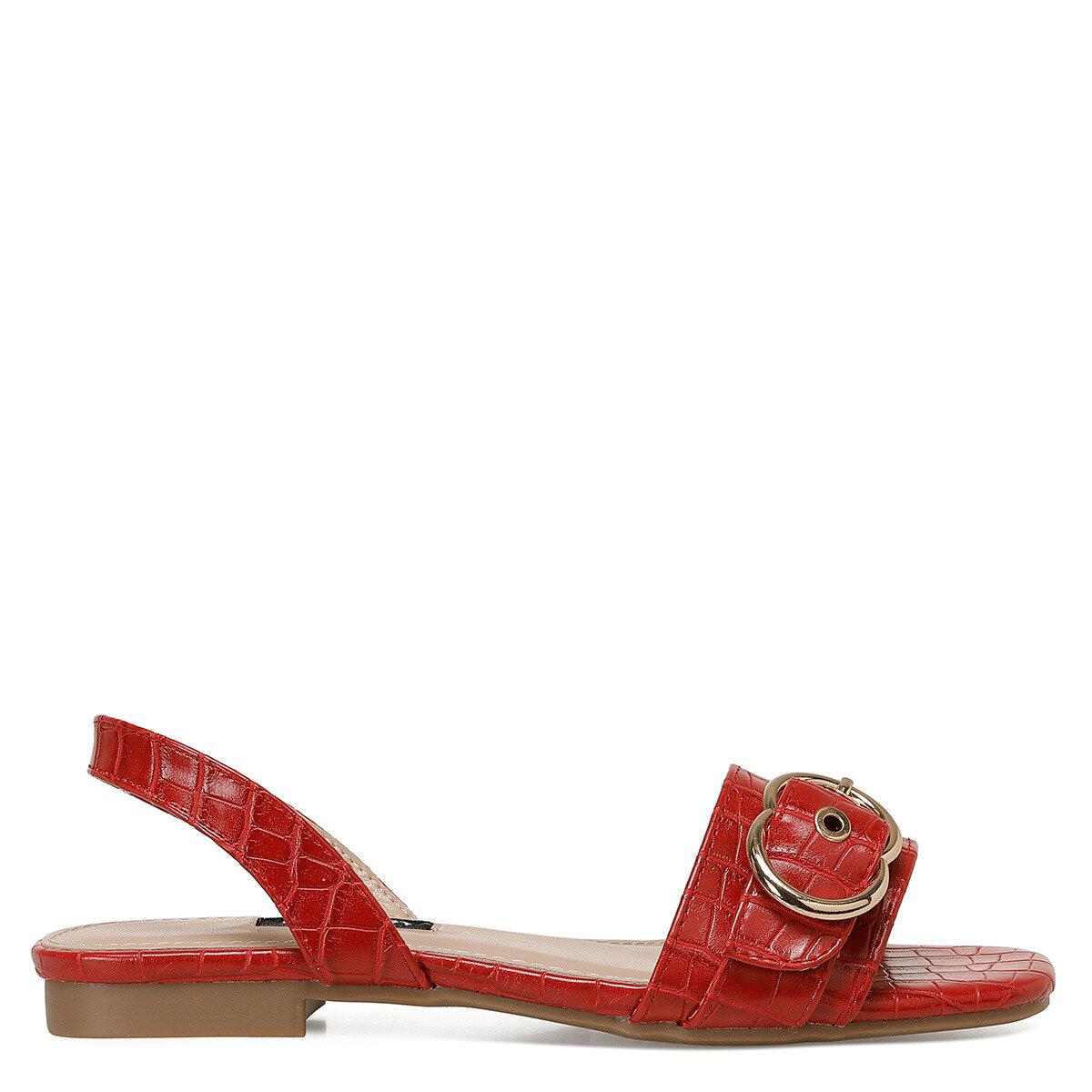 LORATA Kırmızı Kadın Düz Sandalet