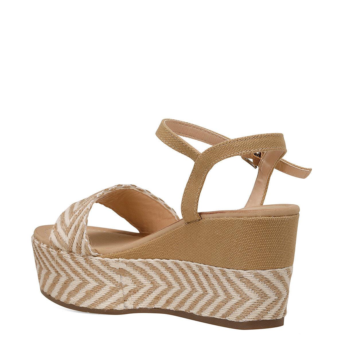 NORMA Haki Kadın Dolgu Topuklu Sandalet