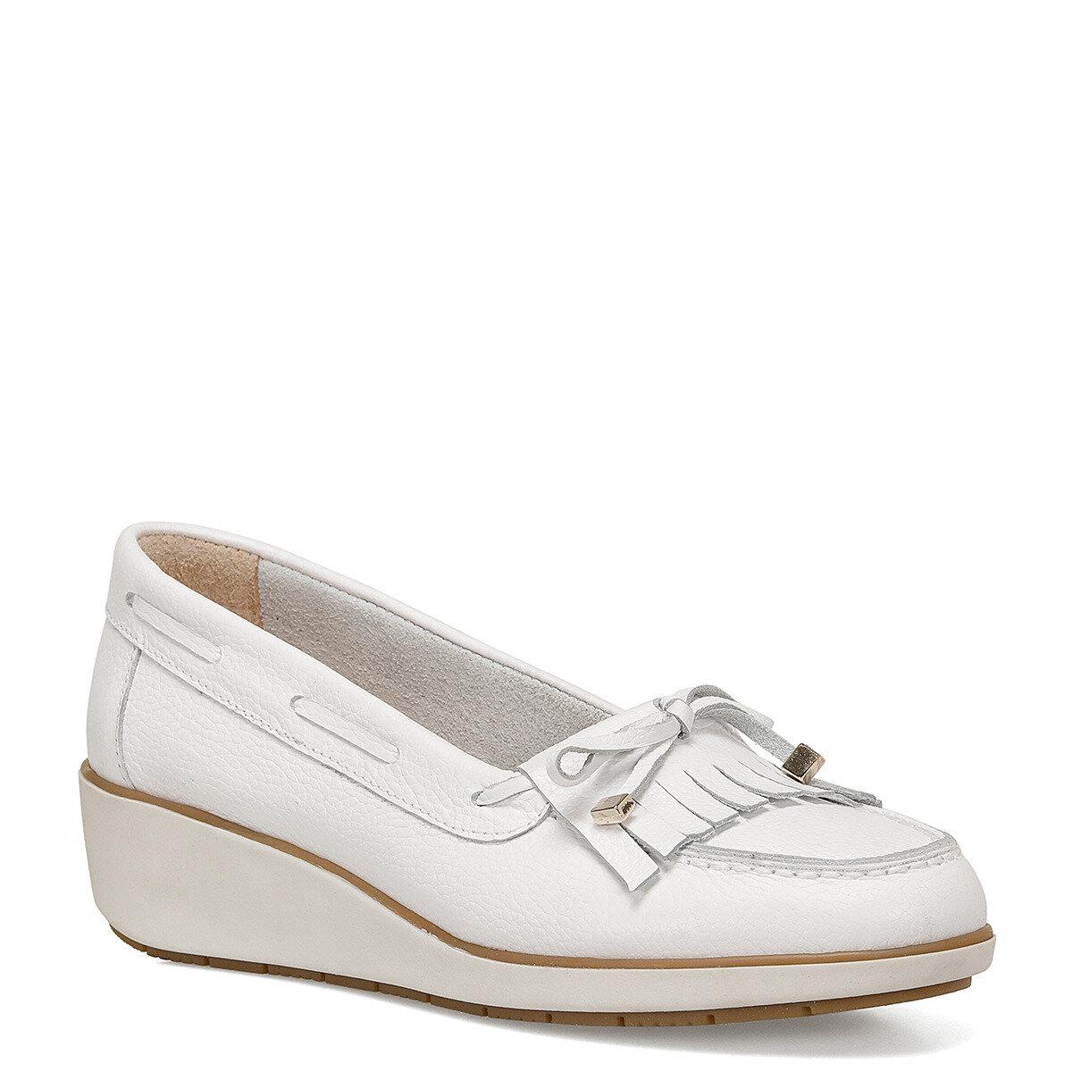 AGHA Beyaz Kadın Dolgu Topuk Ayakkabı