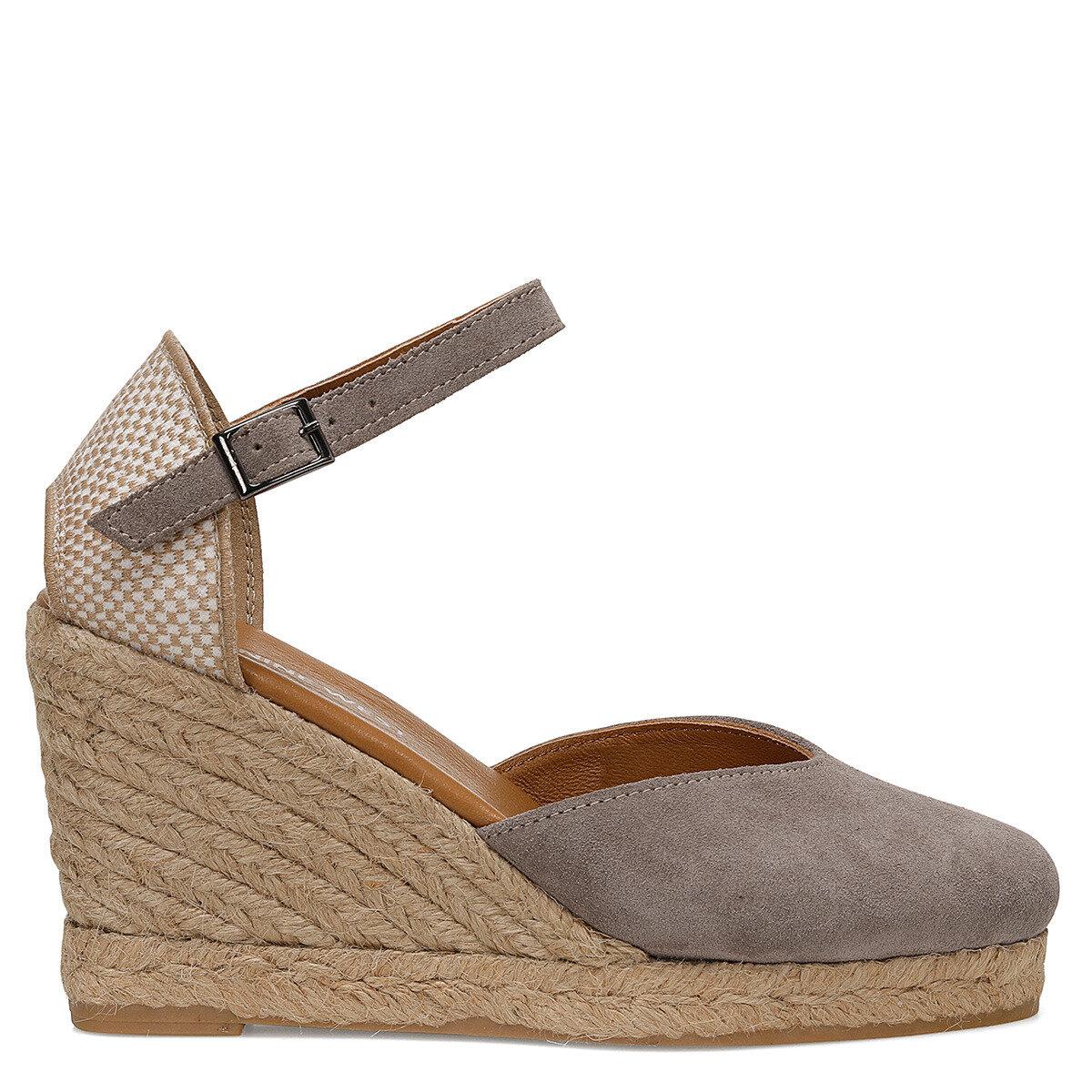 FEDE Vizon Kadın Dolgu Topuklu Sandalet