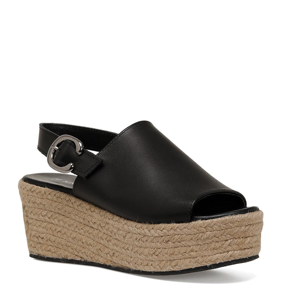 ROMAINE Siyah Kadın Dolgu Topuklu Sandalet