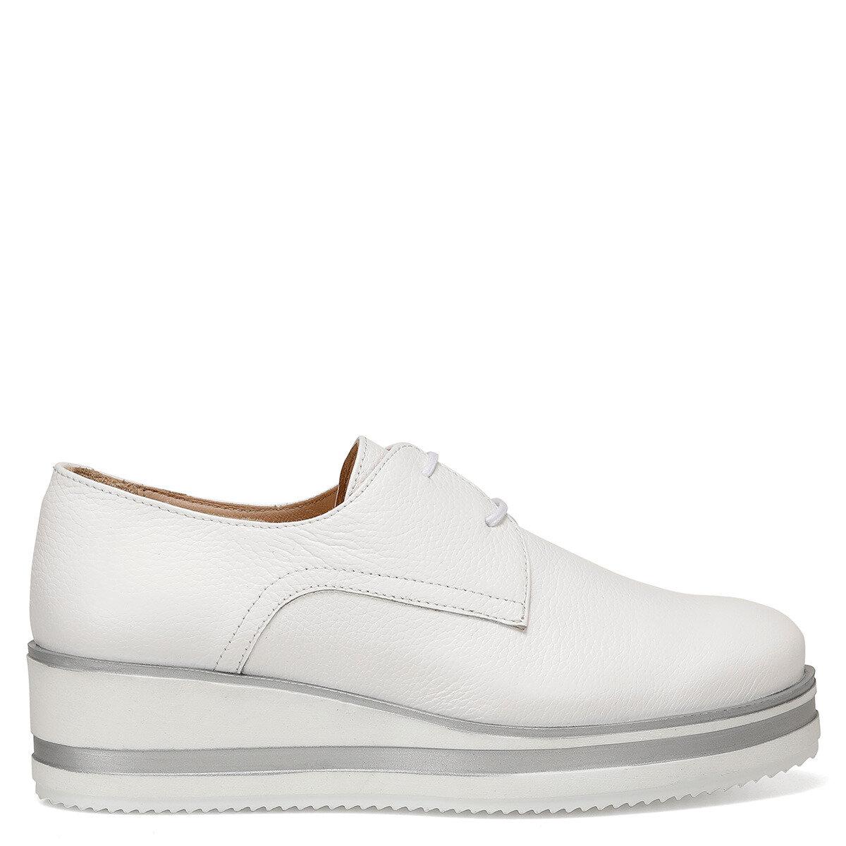 RUDOLF Beyaz Kadın Dolgu Topuk Ayakkabı