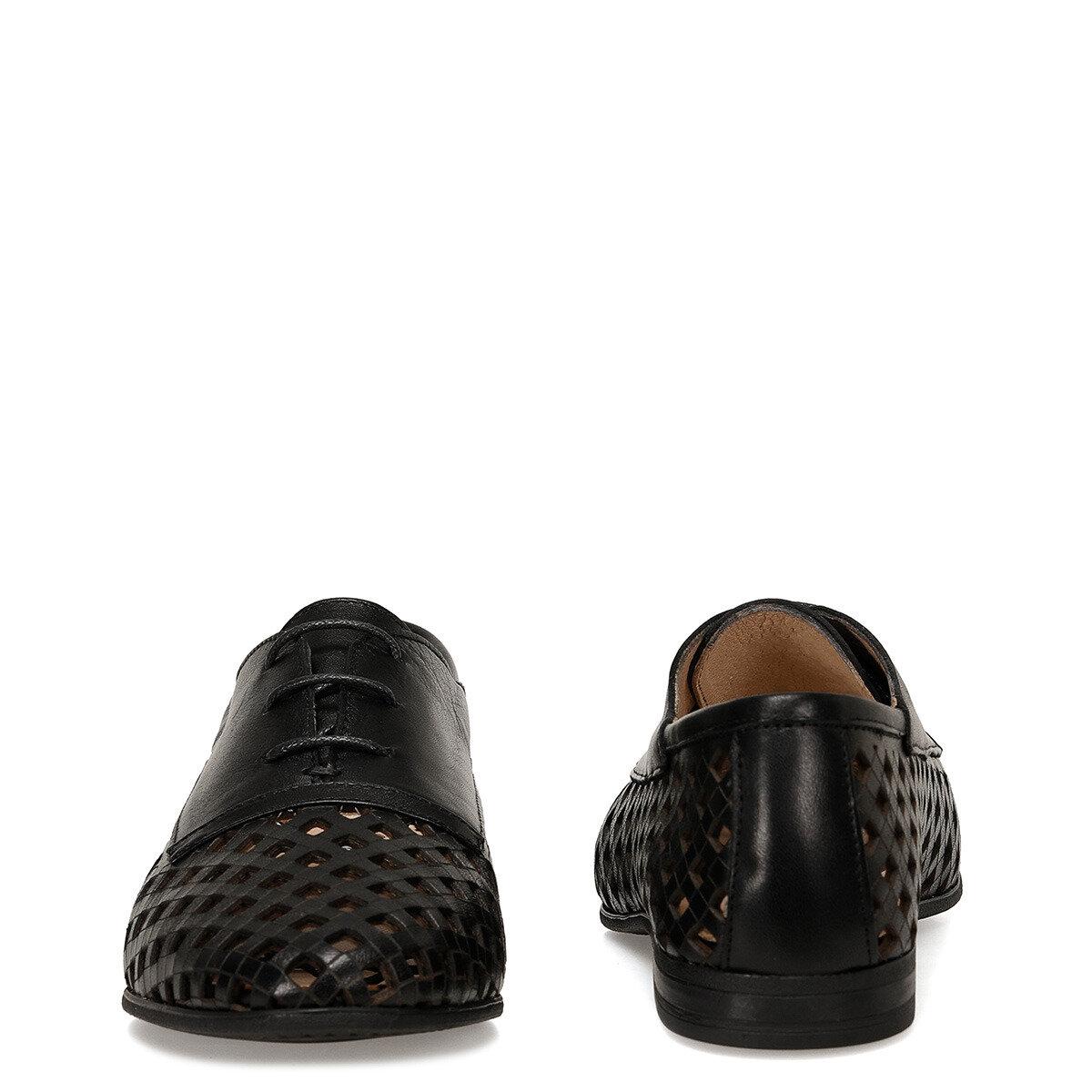 ELORA Siyah Kadın Maskulen Ayakkabı