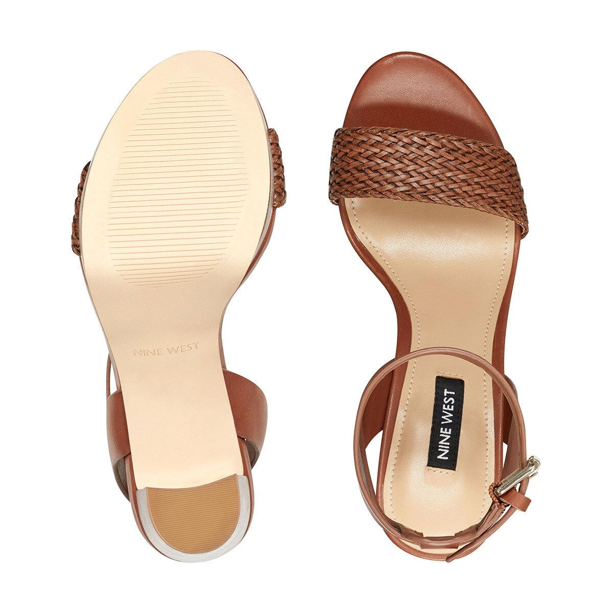 DELUXE Taba Kadın Topuklu Sandalet