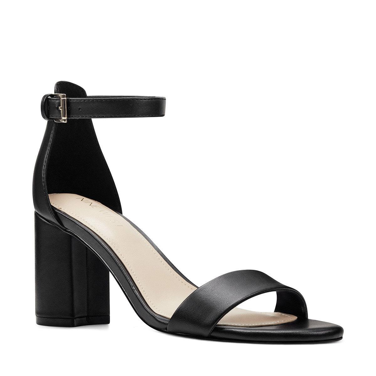 SANDY3 Siyah Kadın Topuklu Sandalet
