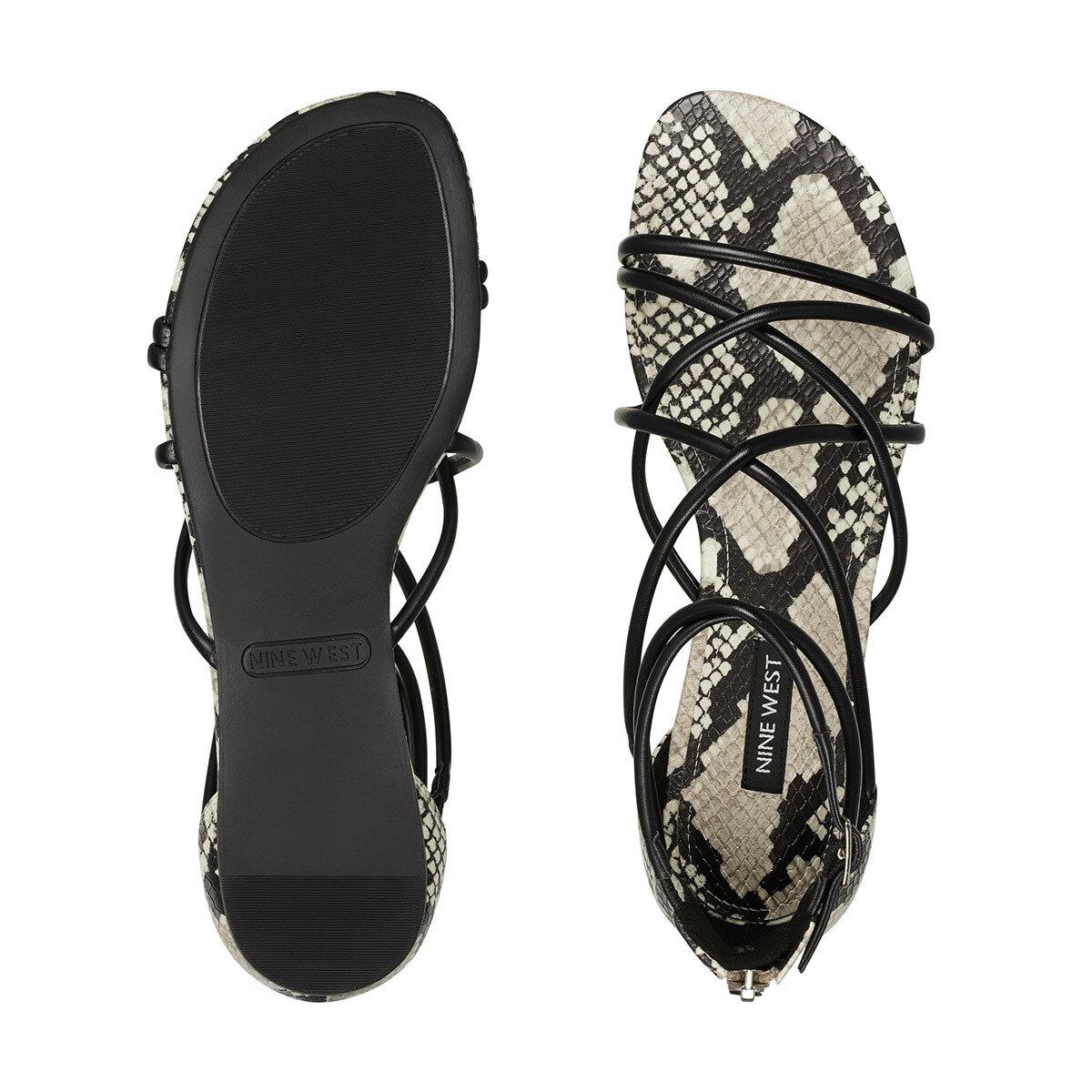 WHISPER3 Siyah Kadın Düz Sandalet