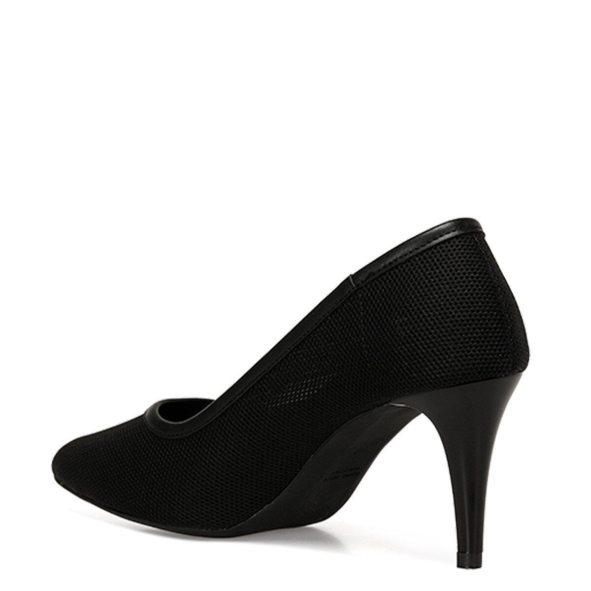 KNITTED Siyah Kadın Topuklu Ayakkabı