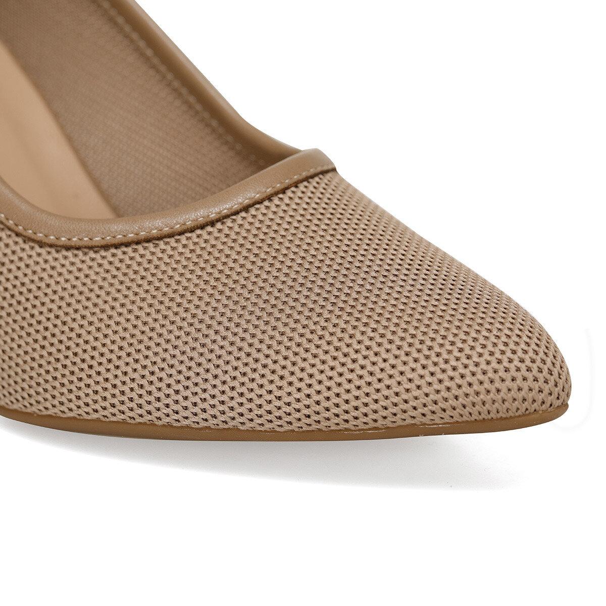 KNITTED Vizon Kadın Topuklu Ayakkabı
