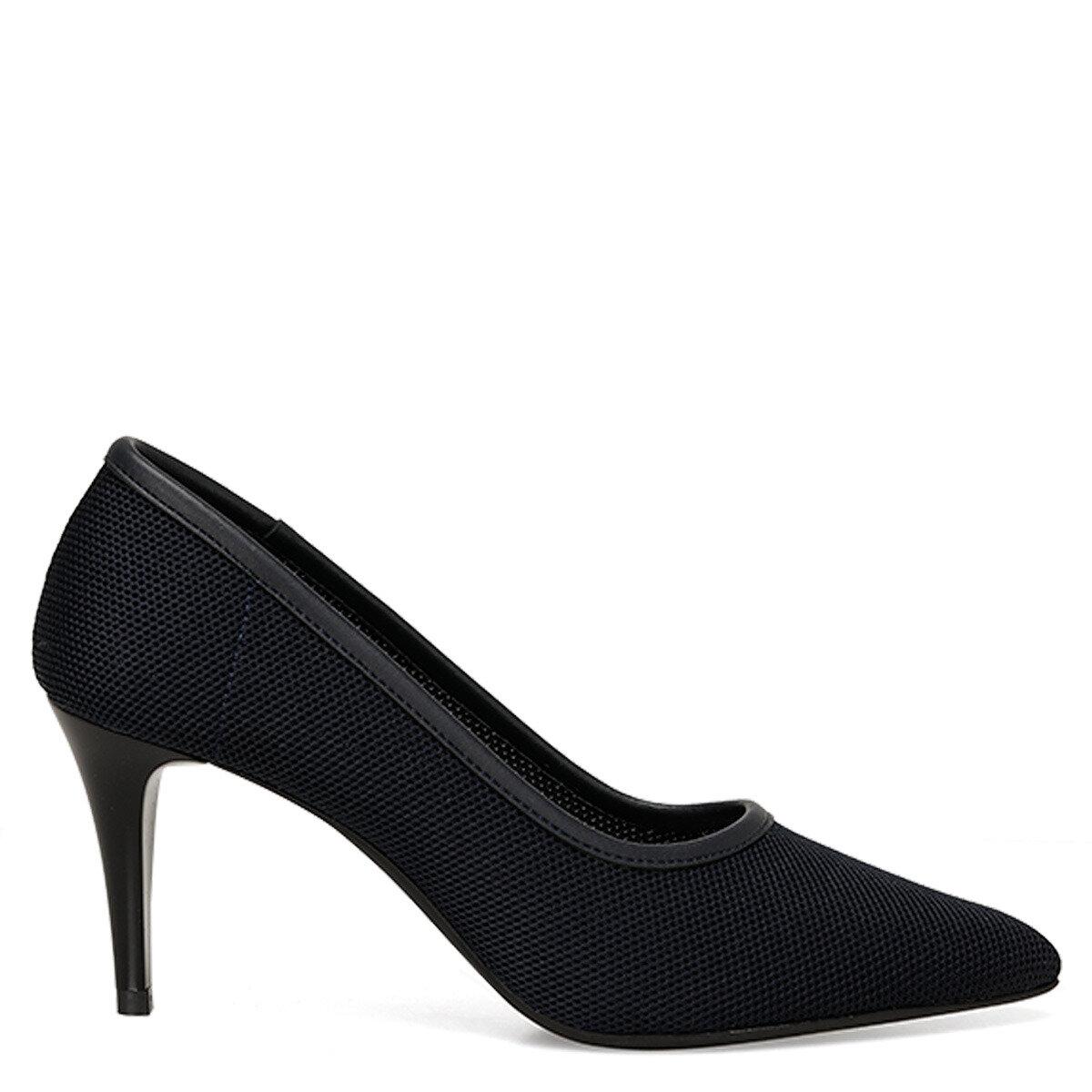 KNITTED Lacivert Kadın Klasik Topuklu Ayakkabı