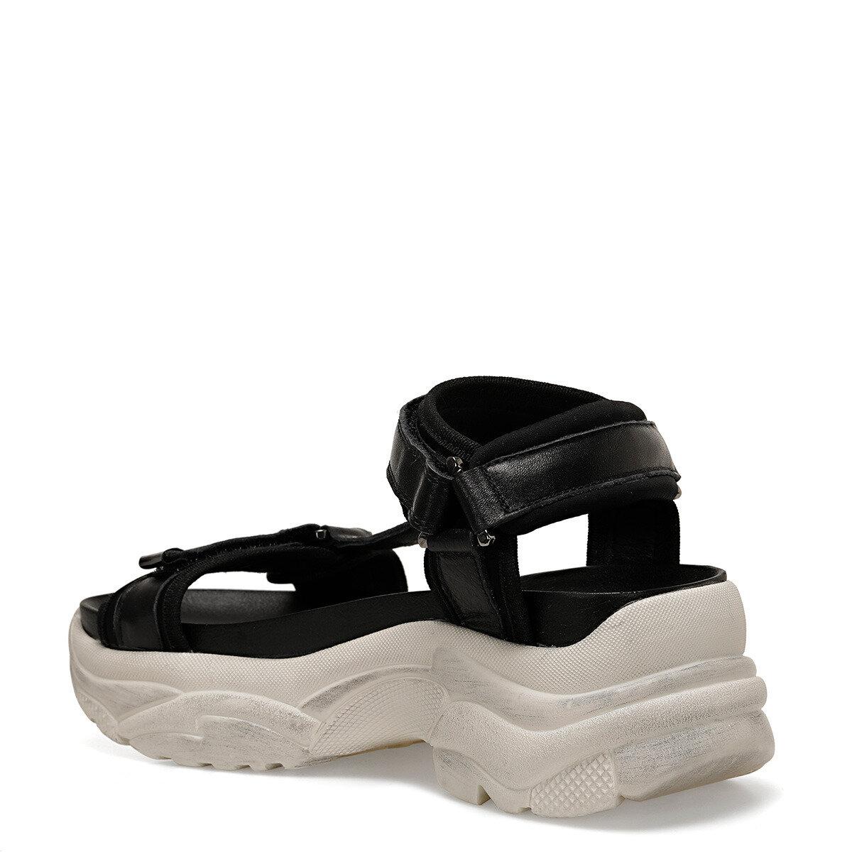 EDEE Siyah Kadın Sandalet