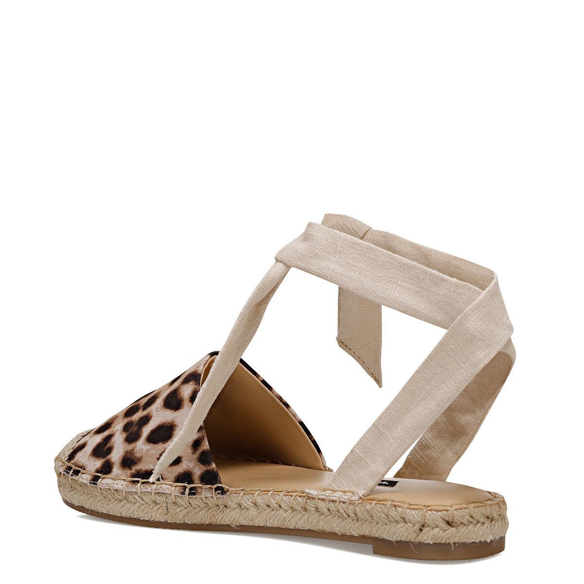 MORE2-A Krem Kadın Espadril Ayakkabı