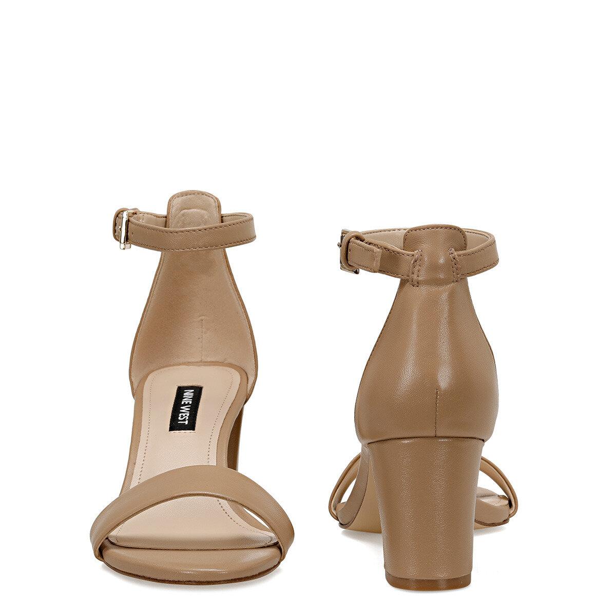 PRUCE Naturel Kadın Topuklu Sandalet