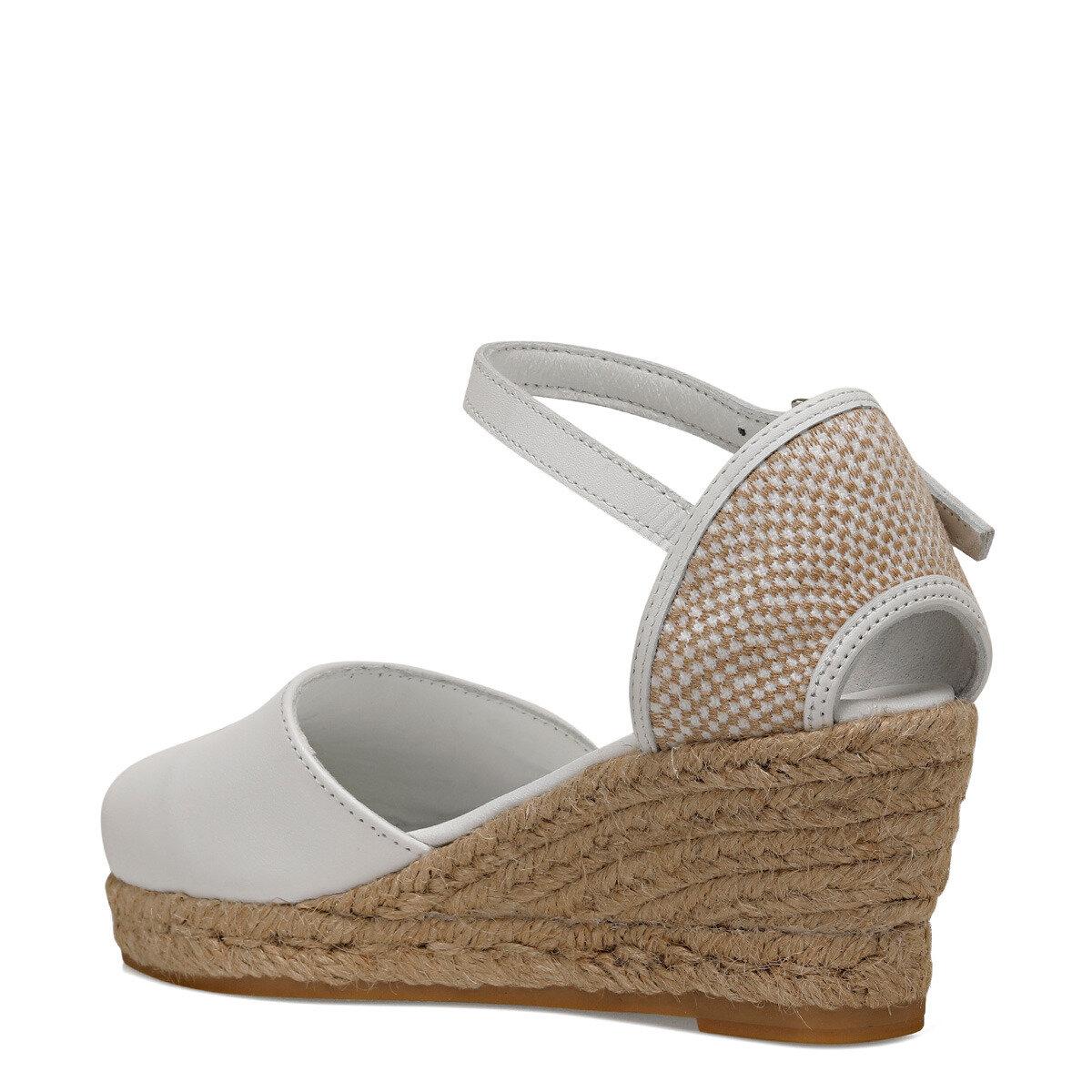 FRIDA Beyaz Kadın Dolgu Topuklu Sandalet