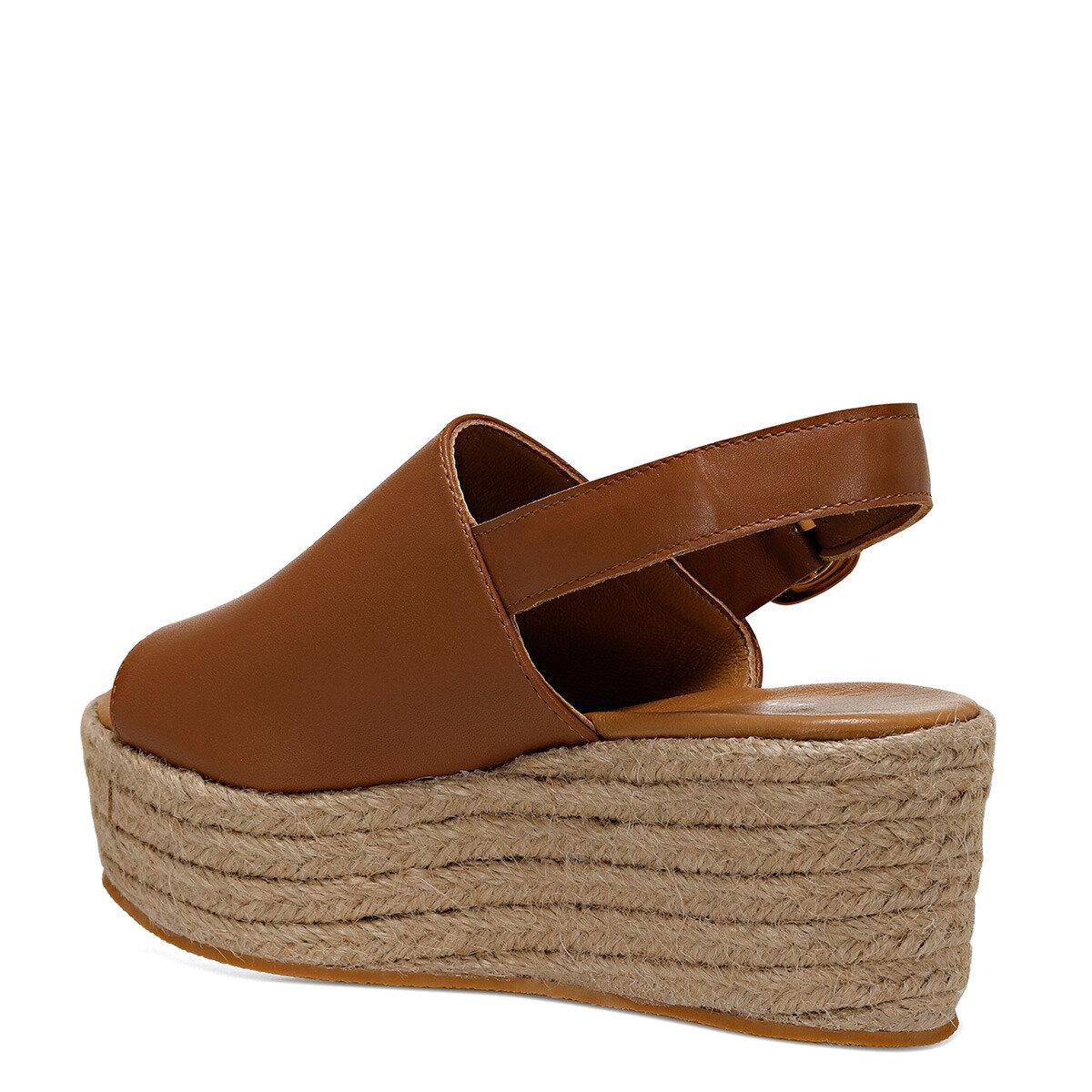ROMAINE Taba Kadın Dolgu Topuklu Sandalet