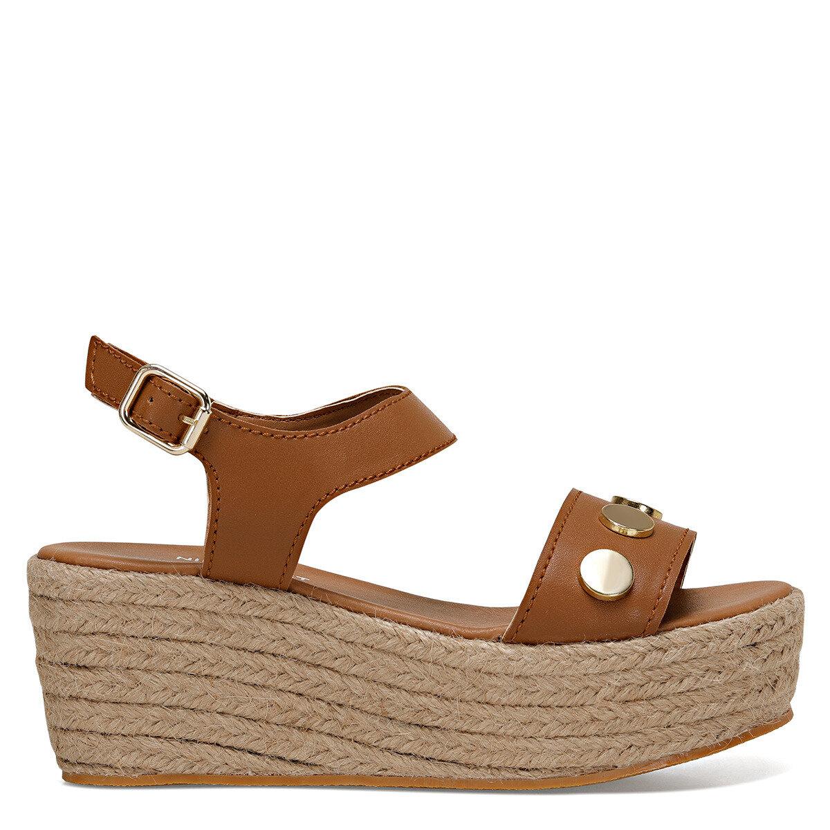 VALADON Taba Kadın Dolgu Topuklu Sandalet