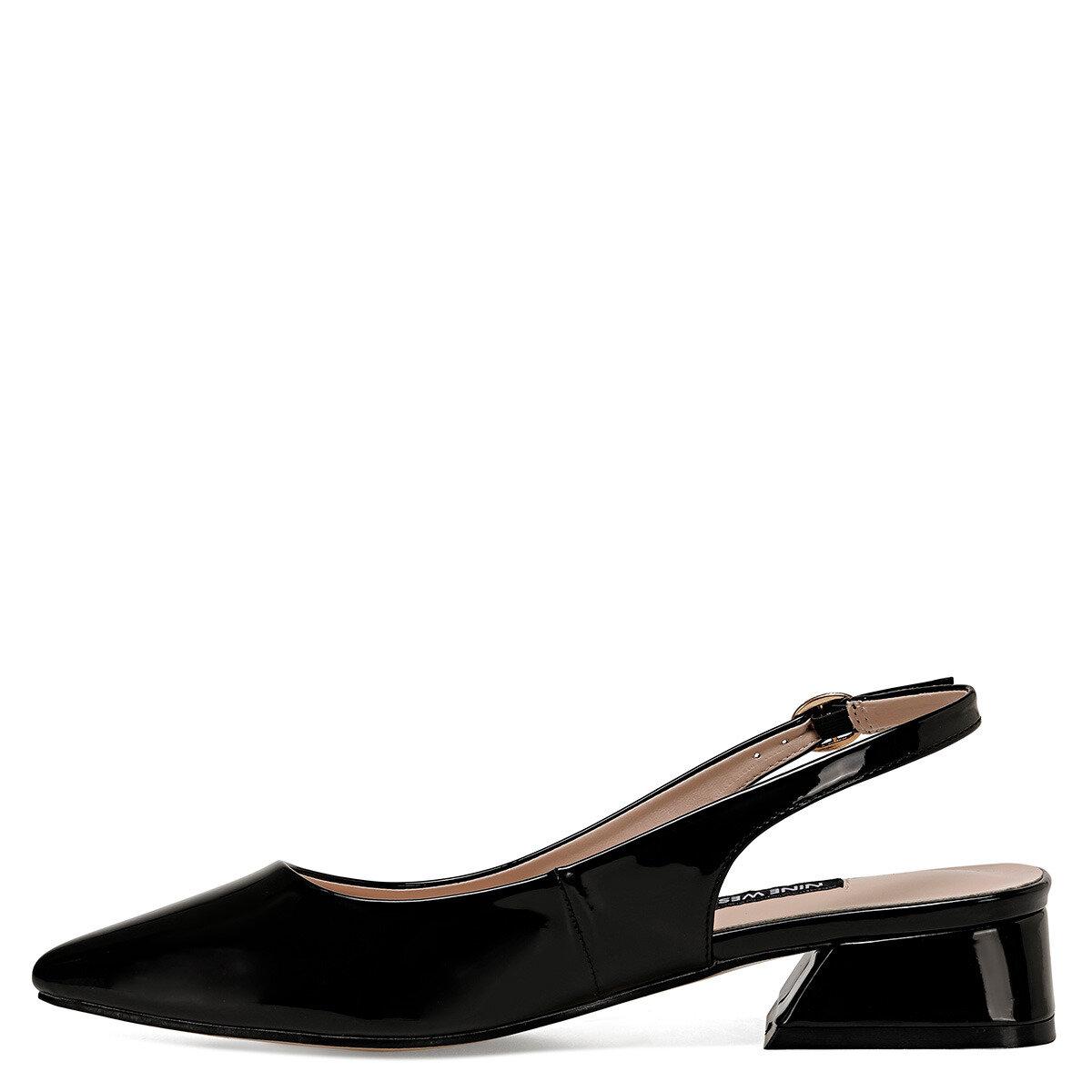 TORA Siyah Kadın Kısa Topuklu Ayakkabı