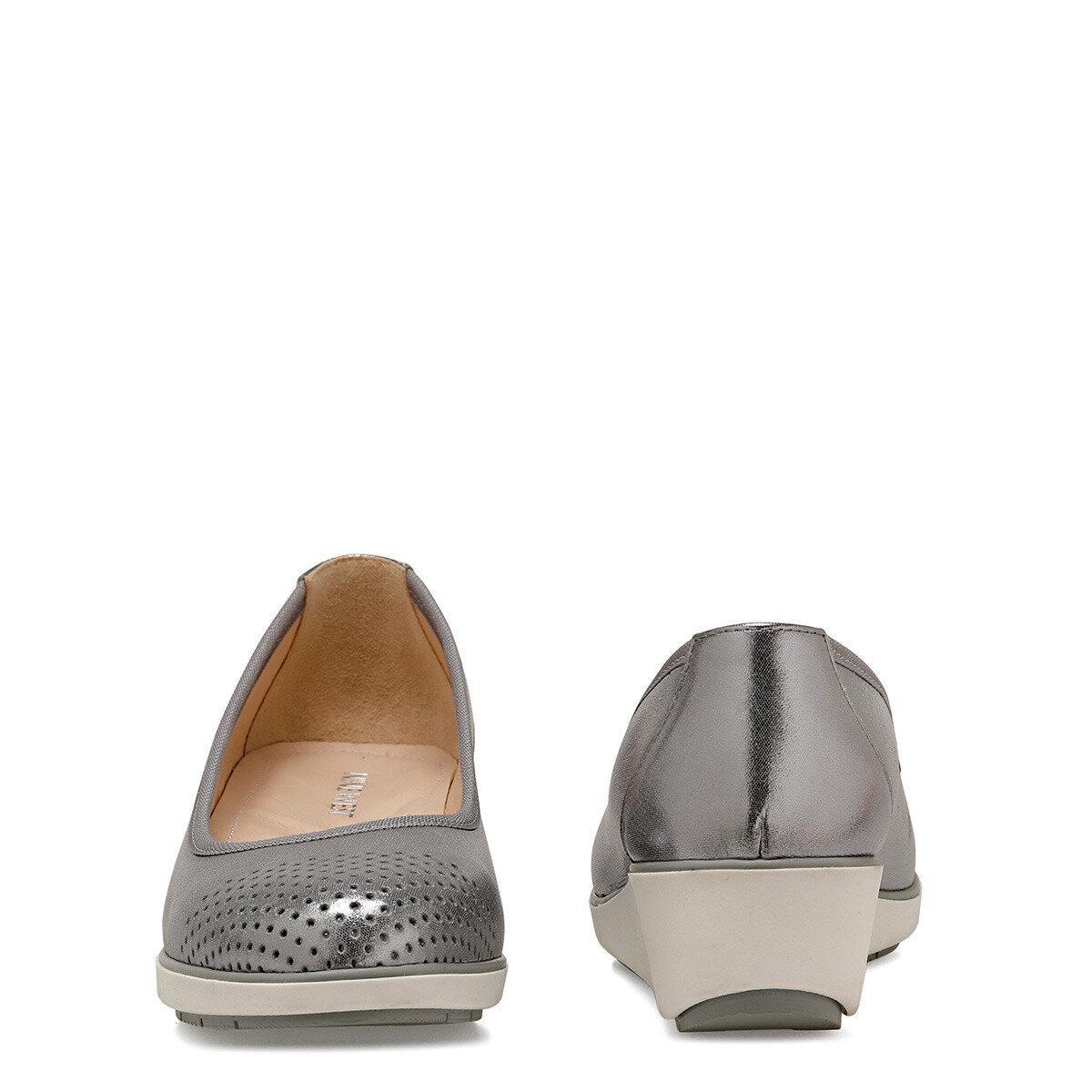 DIAMO Gümüş Kadın Dolgu Topuk Ayakkabı