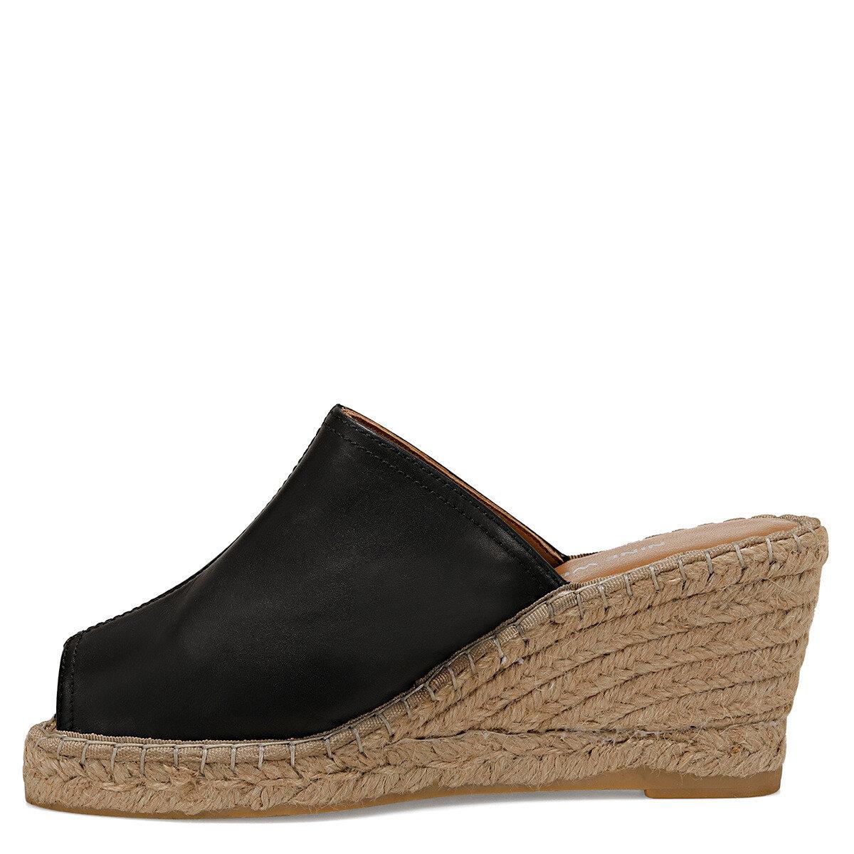 KAUFFMAN2 Siyah Kadın Dolgu Topuklu Sandalet