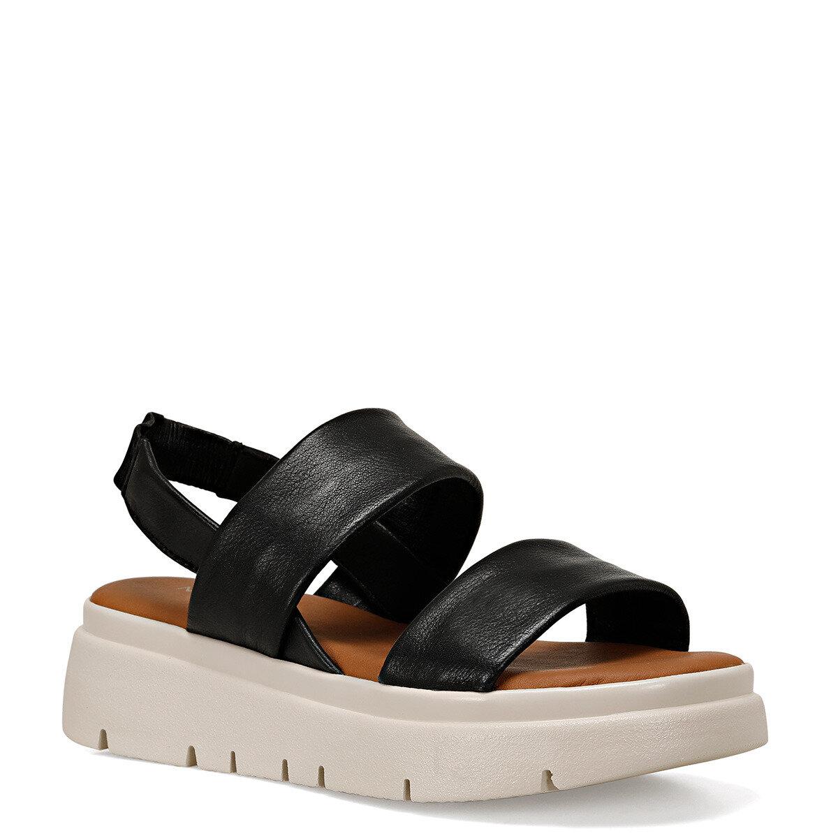 REMBRANDT Siyah Kadın Kalın Taban Sandalet