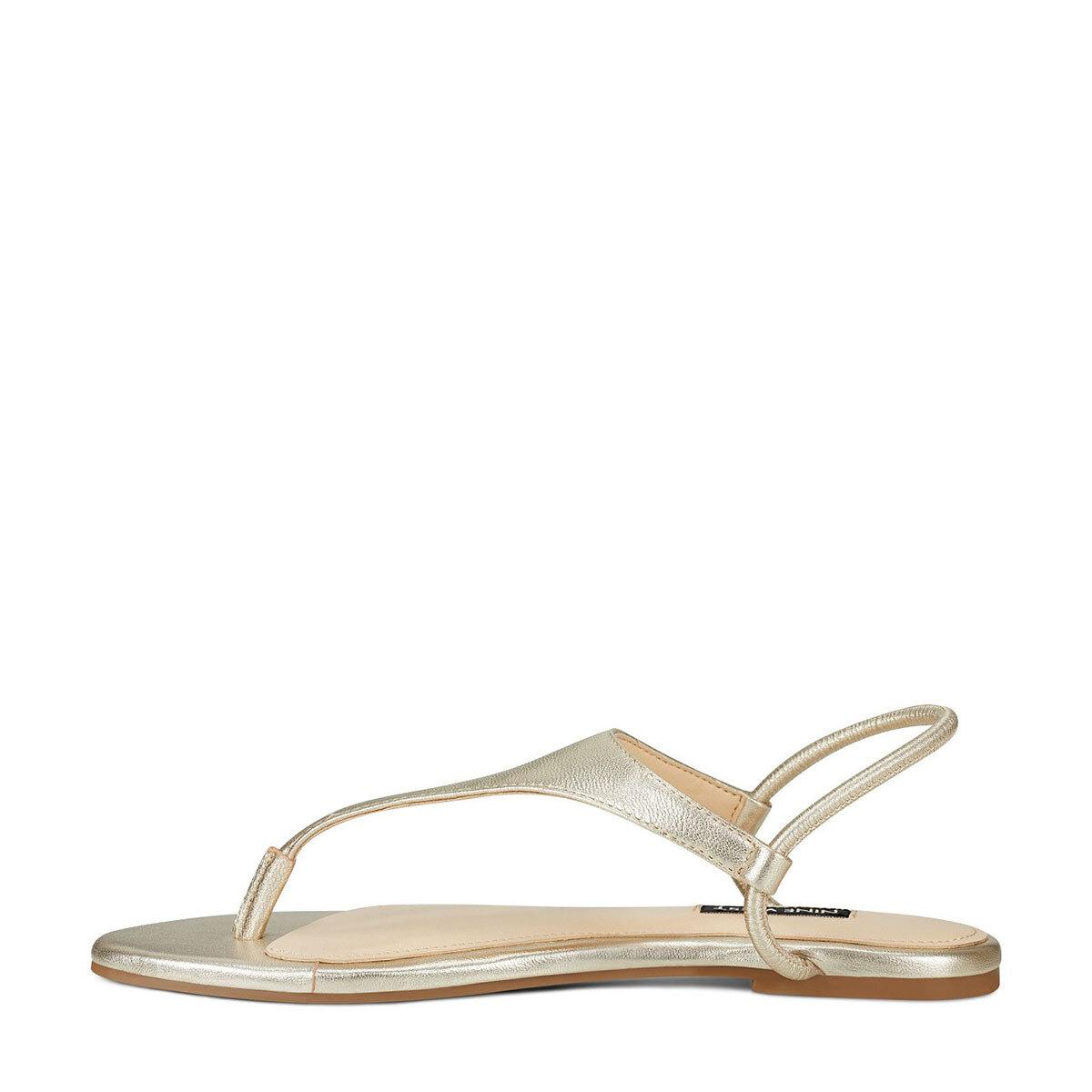 BRAYDIN Altın Kadın Düz Sandalet