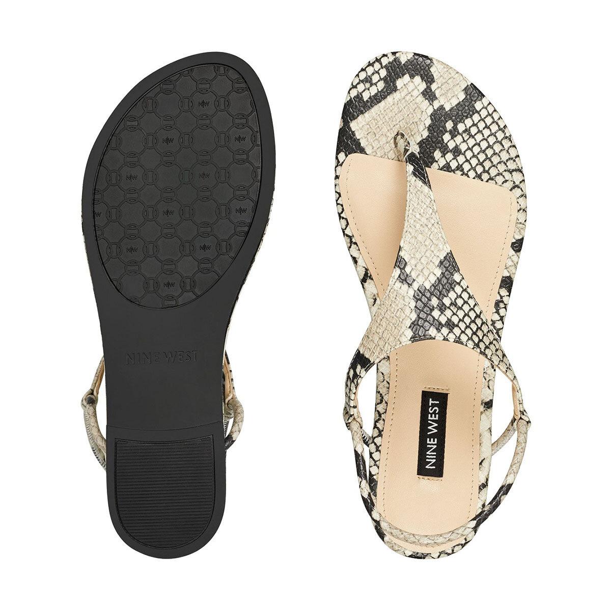 BRAYDIN3 Bej Kadın Düz Sandalet