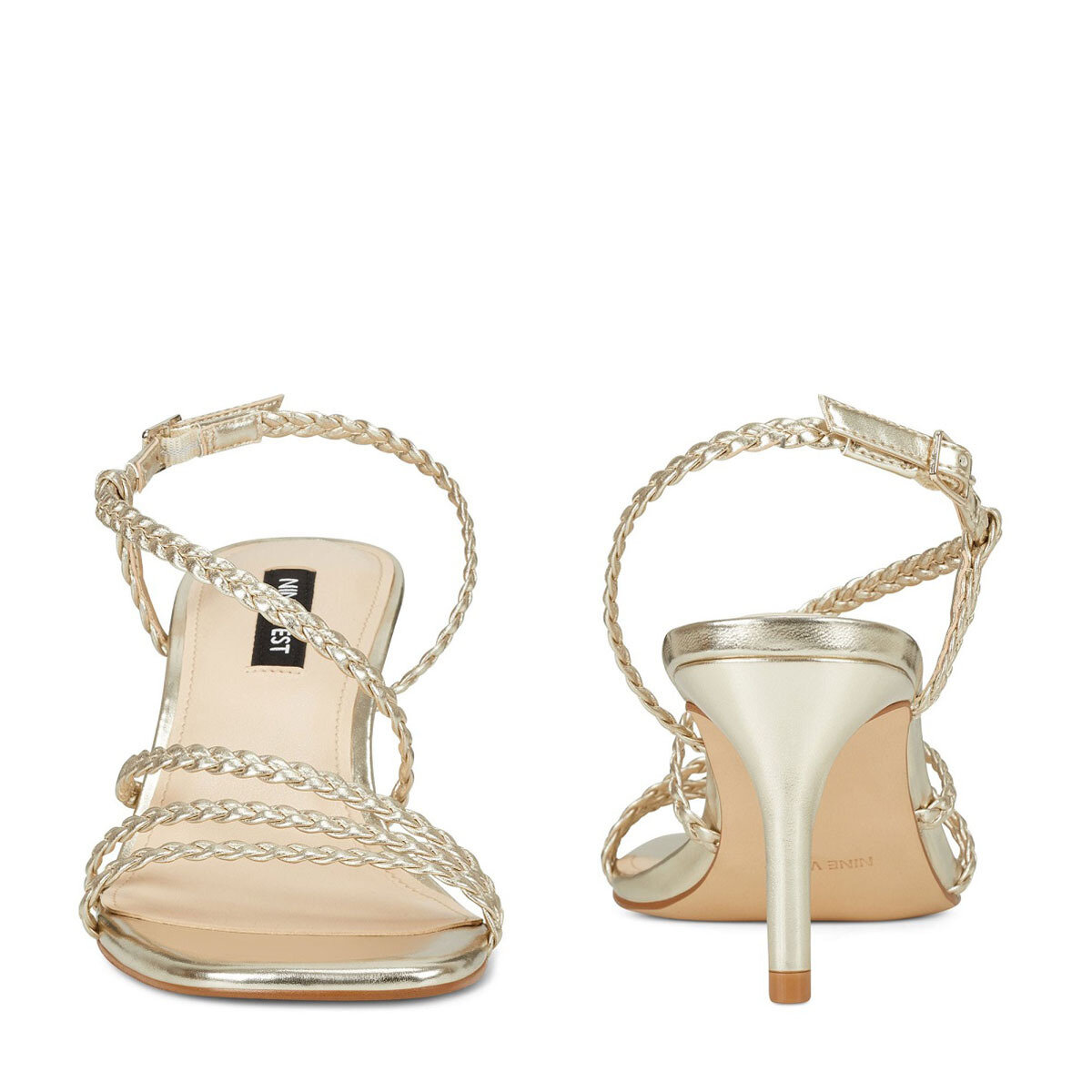GAME2-A Altın Kadın Topuklu Sandalet