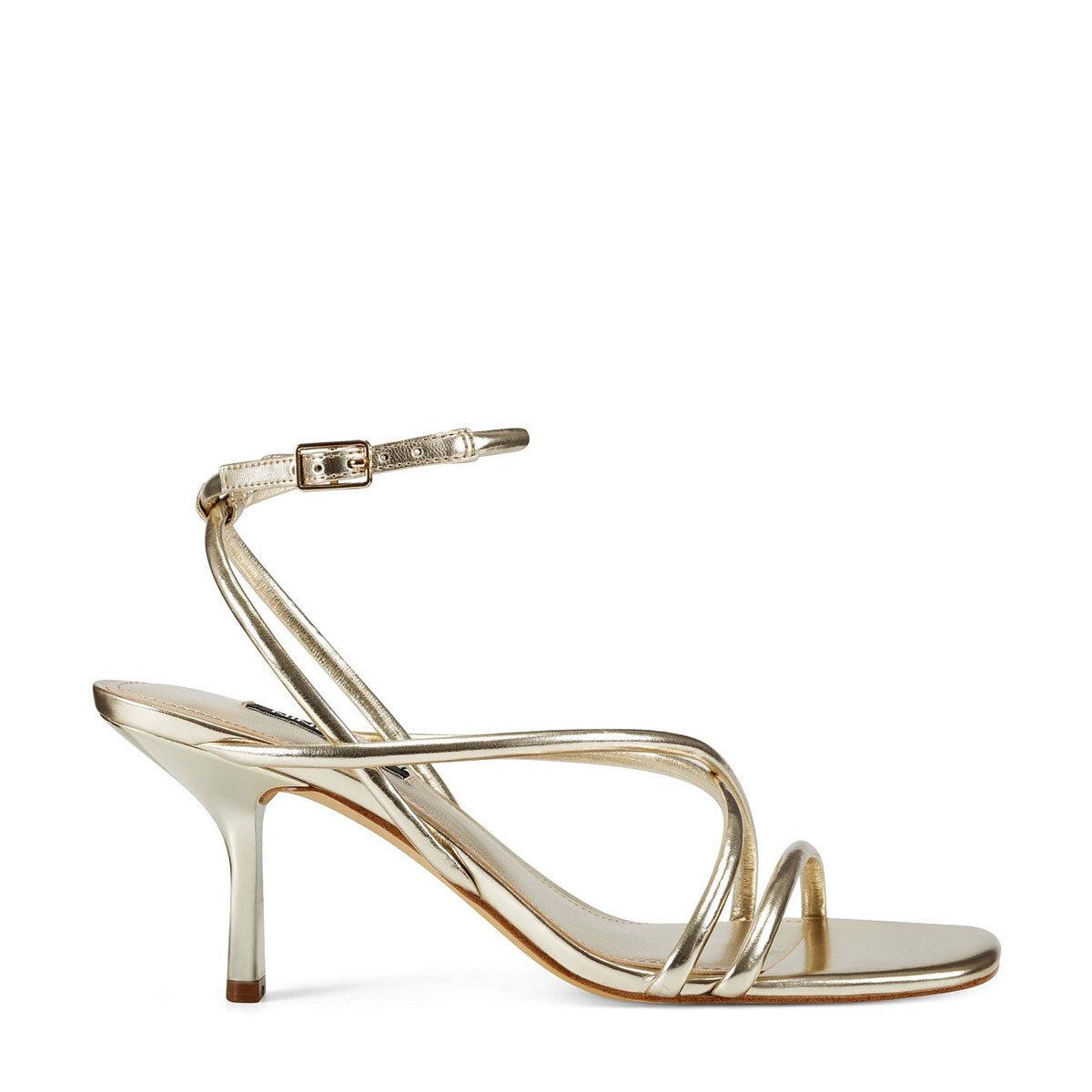 NOLAN3 Altın Kadın Topuklu Ayakkabı