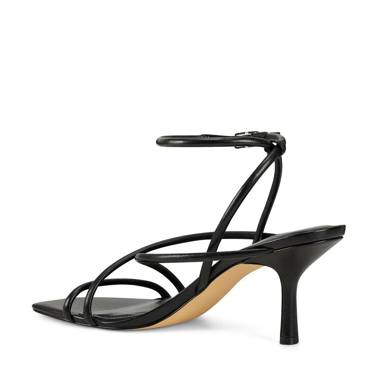 NOLAN3 Siyah Kadın Topuklu Sandalet