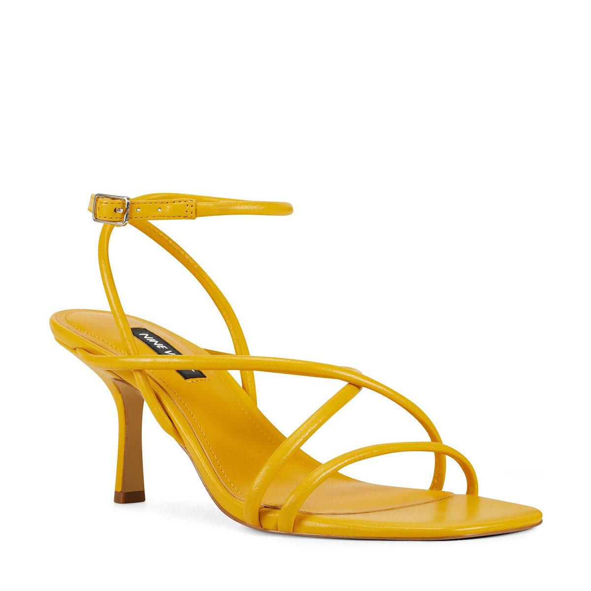 NOLAN3 Sarı Kadın Topuklu Sandalet