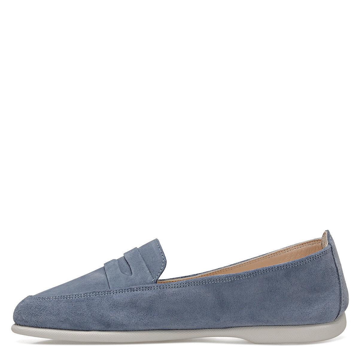 DARMELL Mavi Kadın Loafer Ayakkabı