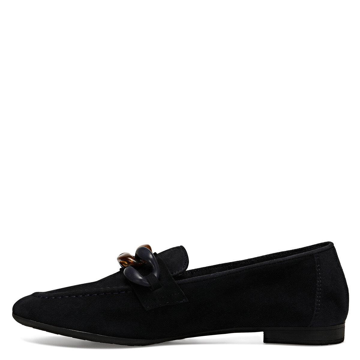 ETO Lacivert Kadın Loafer Ayakkabı