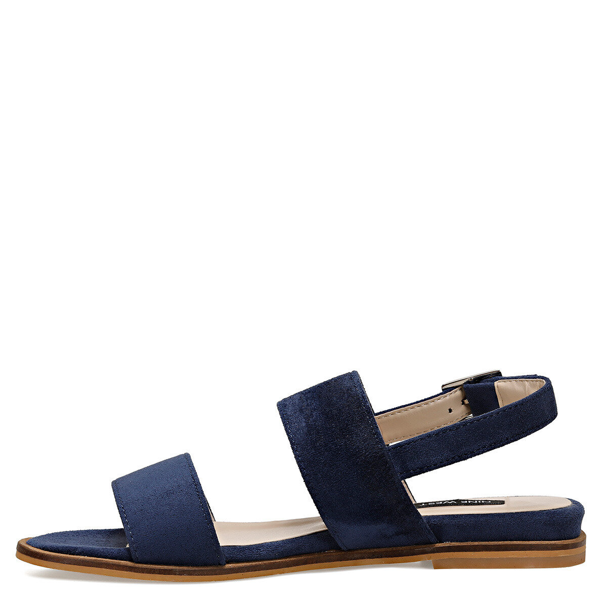 BARDENO Lacivert Kadın Düz Sandalet