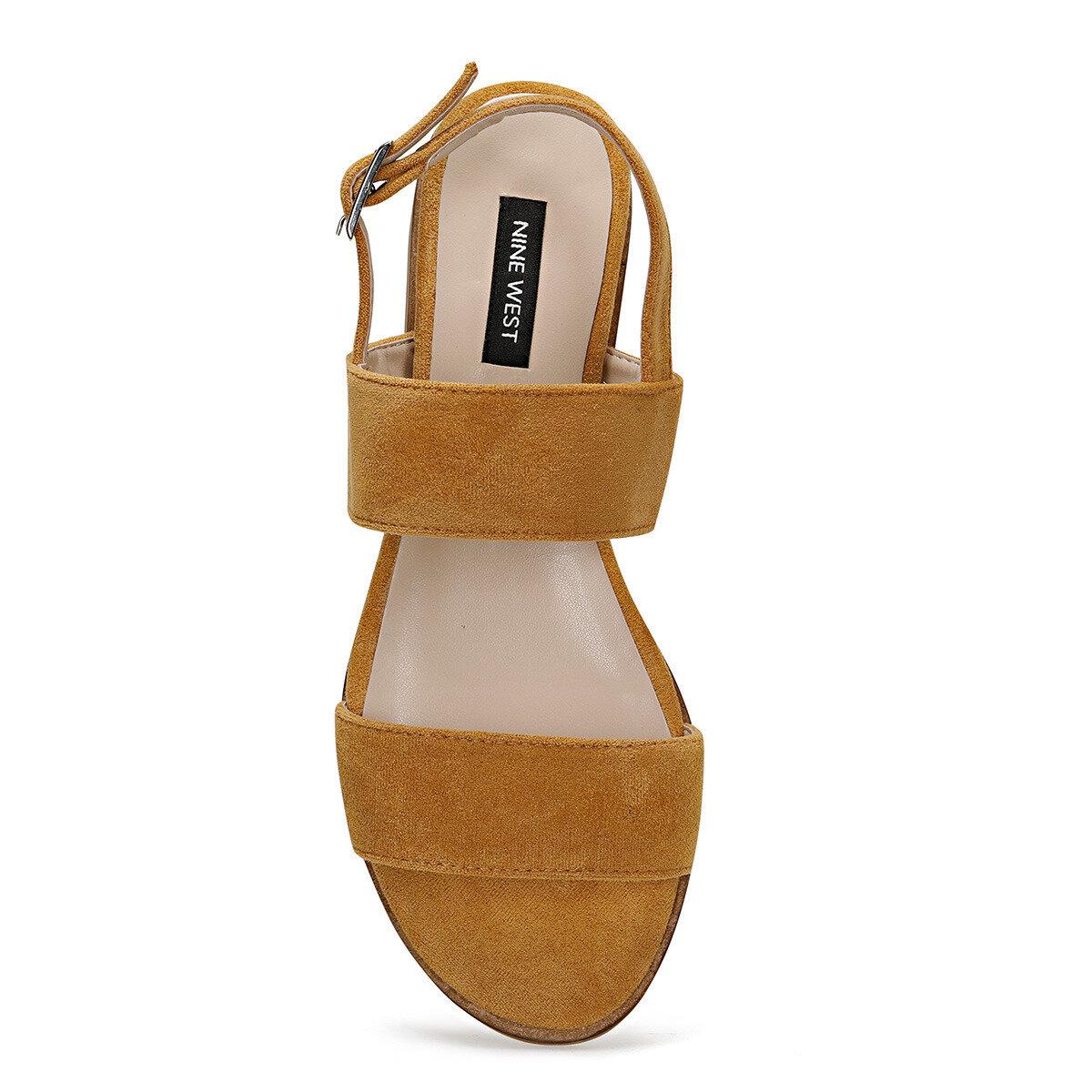 BARDENO Sarı Kadın Düz Sandalet