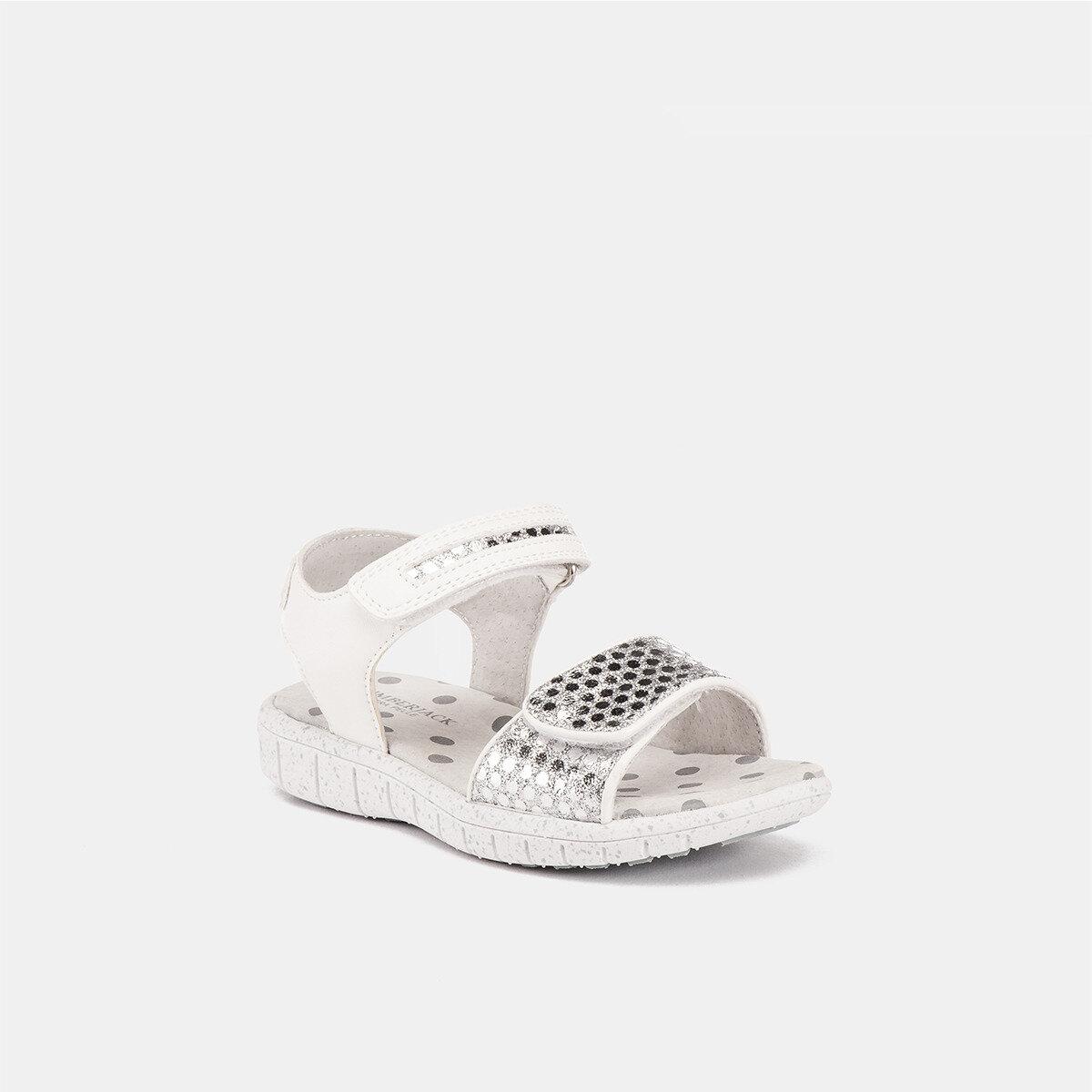 SPONGY WHITE/SILVER Girl Sandals