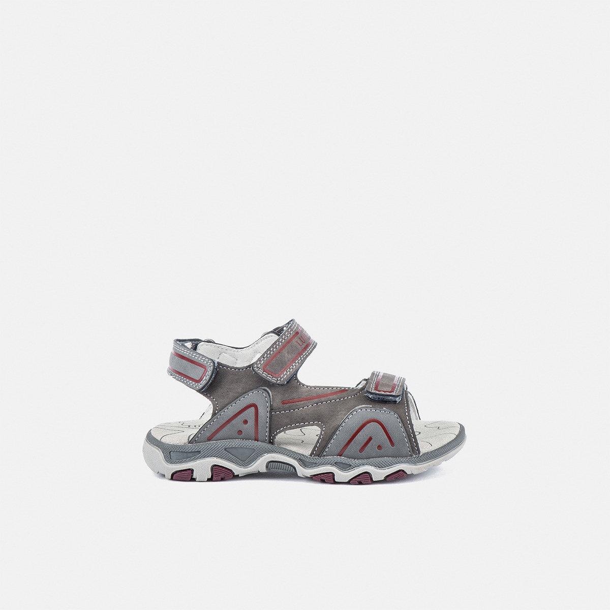 LEVI DK GREY/BORDEAUX Boy Sandals