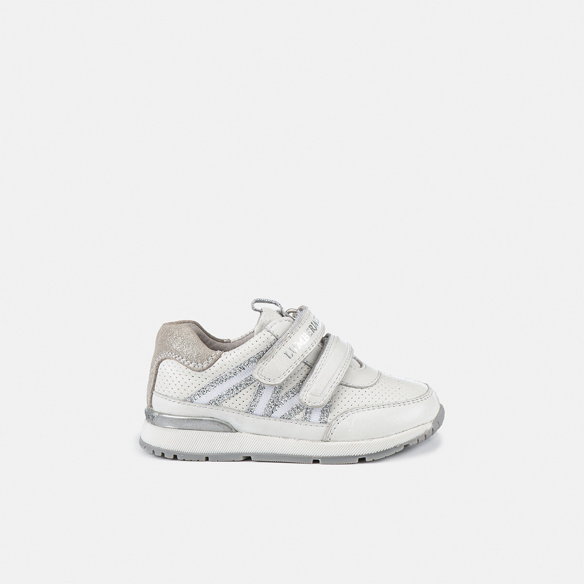SQUISH WHITE/SILVER Girl Sneakers