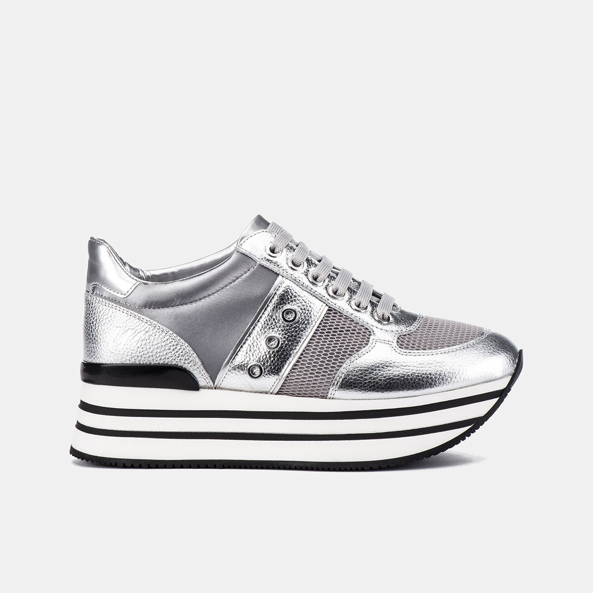 CONNIE SILVER/LT GREY Woman Sneakers