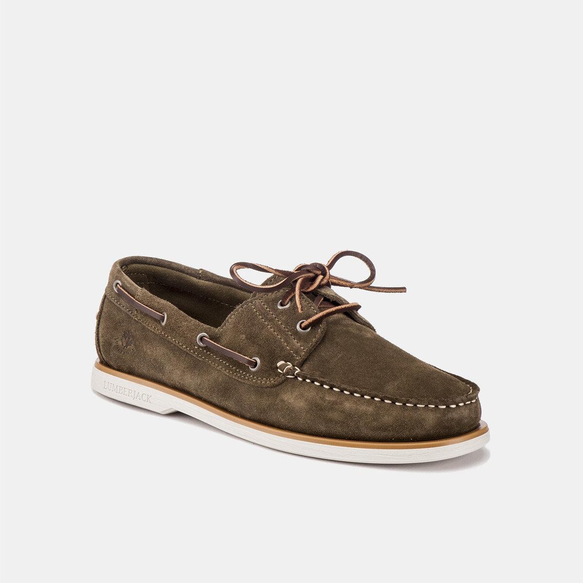 NAVIGATOR MILITARY GREEN Man Boat shoes