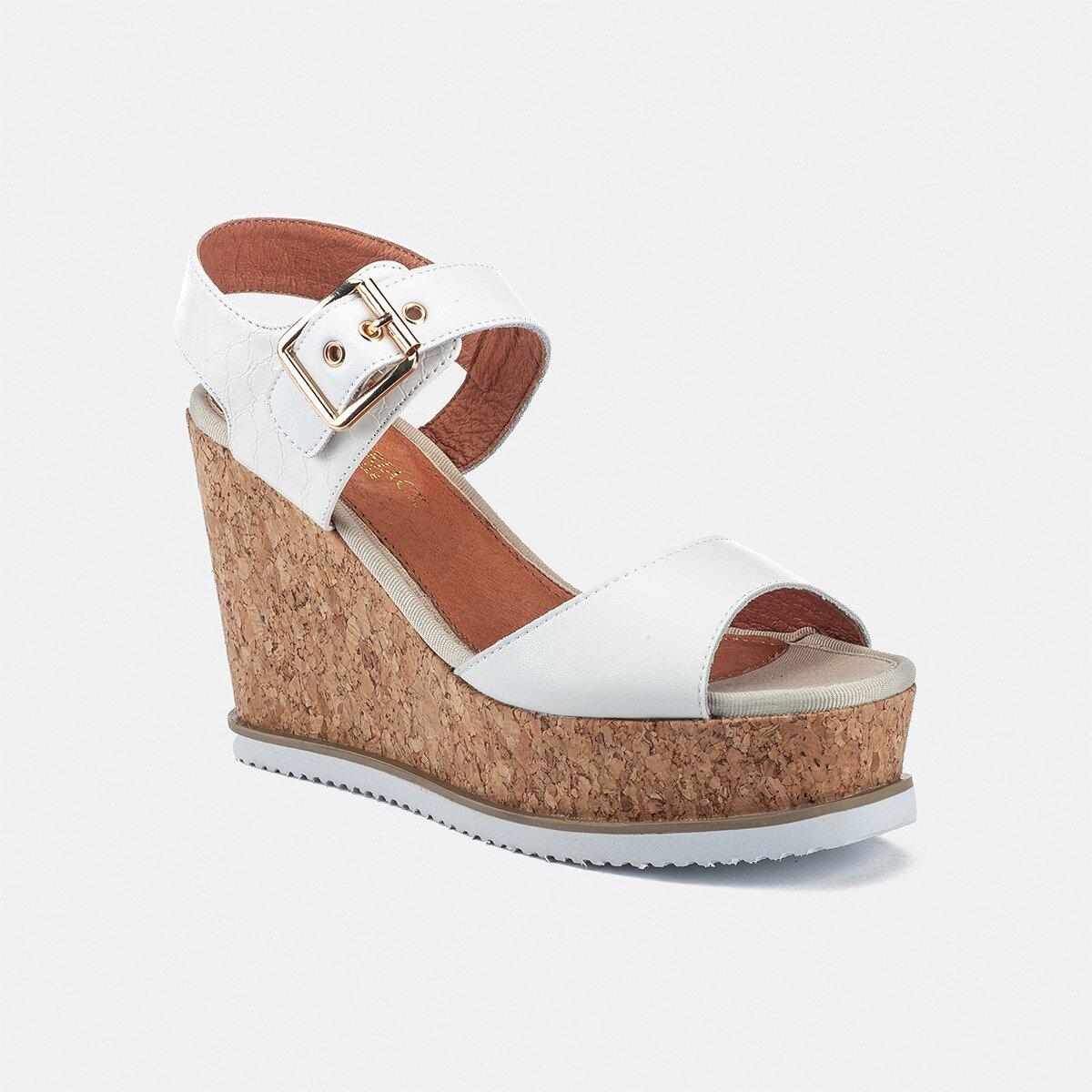 WILMA WHITE Woman Sandals